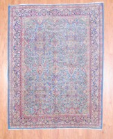 Herat Oriental Antique Persian Kirman Wool Rug-739