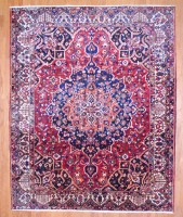 Semi-Antique Persian Hand-knotted Bakhtiari (10'5 x 12'10) 1