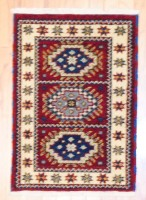 Indo Hand-knotted Kazak (2'1 x 3') 1