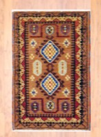 Indo Hand-knotted Kazak (2' x 3') 1
