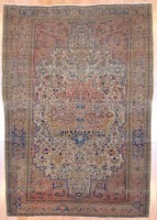 Antique 1890's Persian Hand-knotted Farahan (4'3 x 6'2) 1
