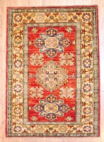 Afghan Hand-knotted Kazak (3' x 4') 1