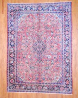 Antique Persian Hand-knotted Mahal (8'11 x 12'1) 1