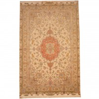 Persian Hand-knotted Tabriz (6'7 x 10') 1