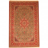 Persian Hand-knotted Fine Isfahan (6'6 x 10'3) 1