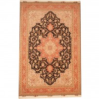 Persian Hand-knotted Tabriz (6'6 x 10') 1