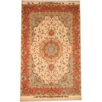 Persian Hand-knotted Tabriz (6'6 x 10'5) 1