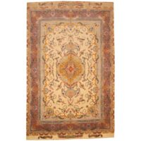Persian Hand-knotted Tabriz (6'6 x 9'11) 1