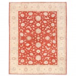 Afghan Hand-knotted Vegetable Dye Oushak Wool Rug (8' x 9'10) 1