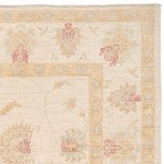 Afghan Hand-knotted Vegetable Dye Oushak Wool Rug (8'3 x 9'9) 1