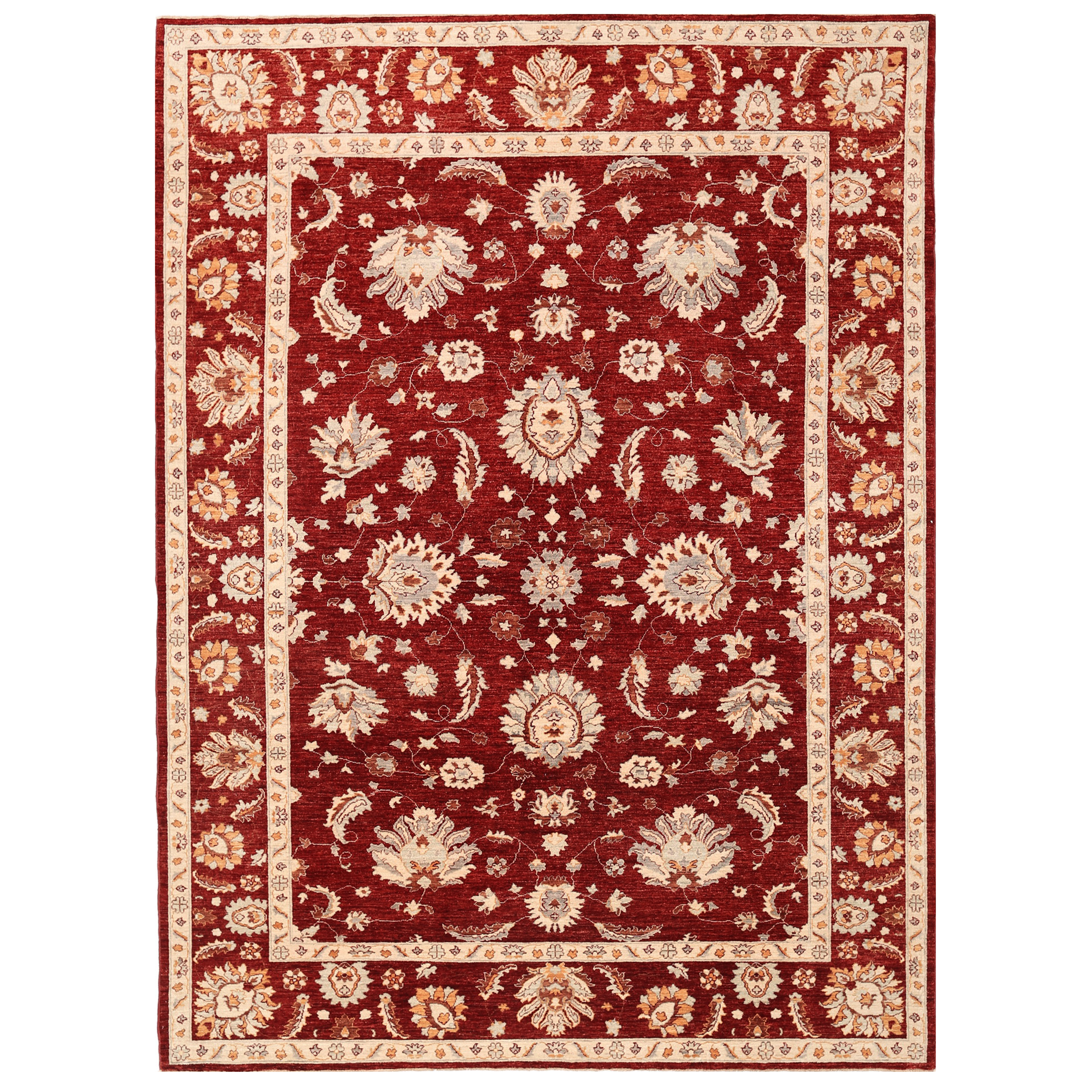 Afghan Hand Knotted Vegetable Dye Tabriz Wool Rug 9 X 12 4
