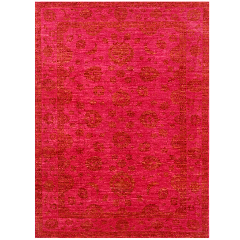 Vegetable Dyed Hand Knotted Floral Oushak Ivory Persian: Area Rug Ideas