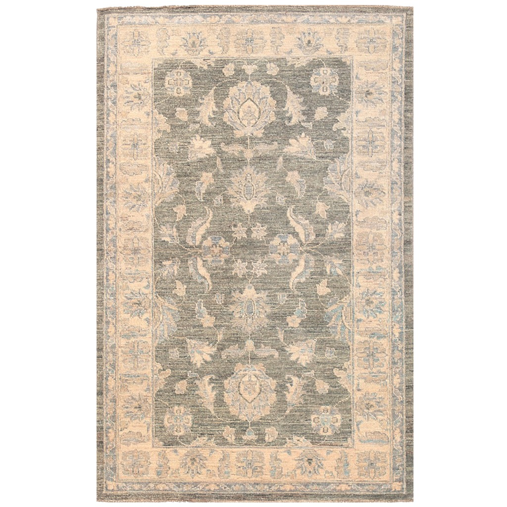 Afghan Hand-knotted Vegetable Dye Oushak Wool Rug (3'1 x 4'10)