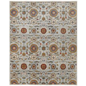 Afghan Hand-knotted Vegetable Dye Suzani Wool Rug (8' x 9'10) 1