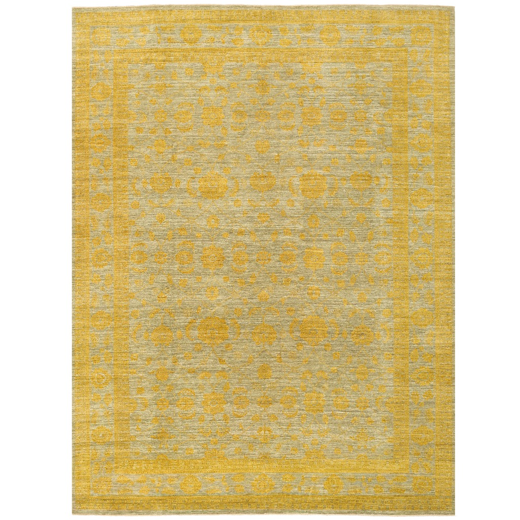 Afghan Hand-knotted Vegetable Over-Dye Oushak Wool Rug (9'9 x 12'9)