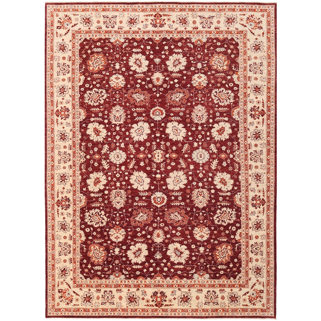 Afghan Hand-knotted Vegetable Dye Oushak Wool Rug (8'11 x 12′)