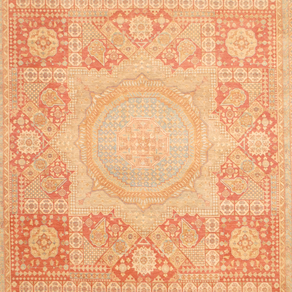 Vegetable Dyed Hand Knotted Floral Oushak Ivory Persian: Afghan Hand-knotted Vegetable Dye (10'2 X 14')