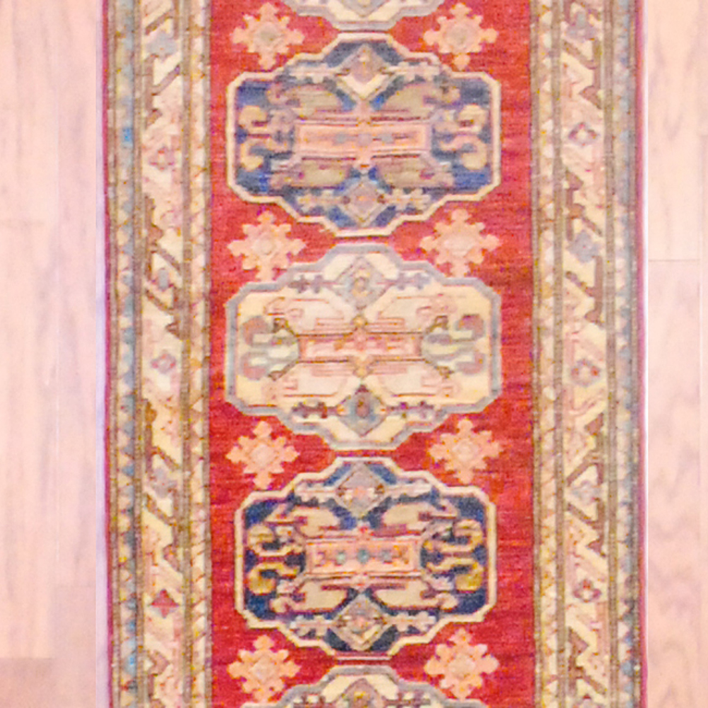 Shop Oriental Persian Gabbeh Shades Of Orange Hand Knotted: Afghan Hand-knotted Kazak (1'11 X 9'11)