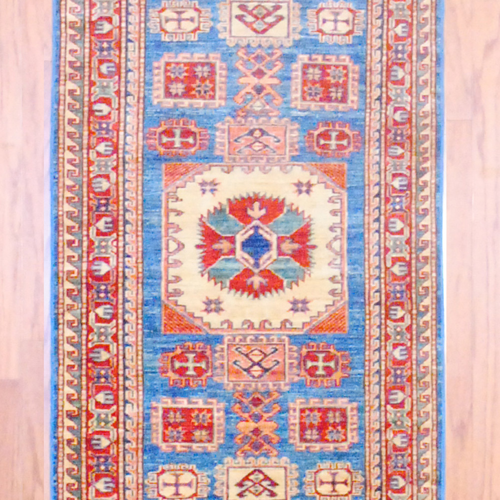 Shop Oriental Persian Gabbeh Shades Of Orange Hand Knotted: Afghan Hand-knotted Kazak (2'7 X 8'2)