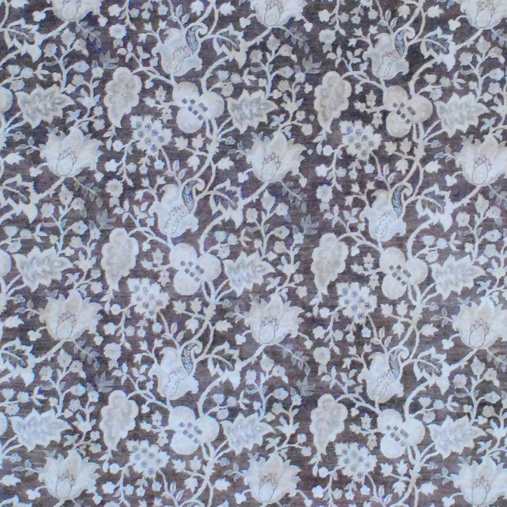 Vegetable Dyed Hand Knotted Floral Oushak Ivory Persian: Afghan Hand-knotted Vegetable Dye (7'8 X 9'9)