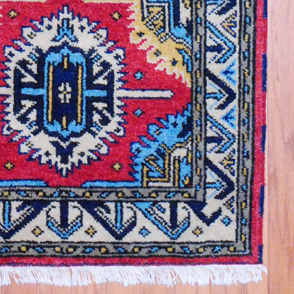 Pasargad Ny Persian Hand Knotted Wool Light Blue Ivory: Indo Hand-knotted Kazak (2'11 X 5')