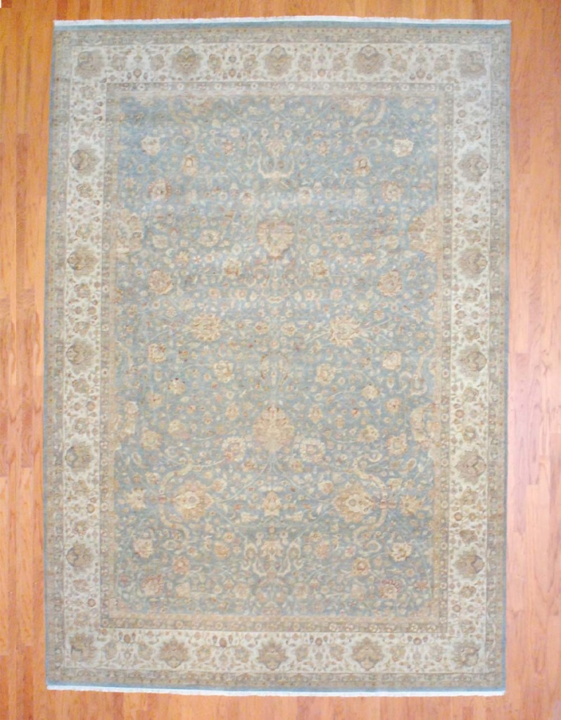 Indo Hand Knotted Kashan 9 11 X 14 4 Herat Oriental Rugs