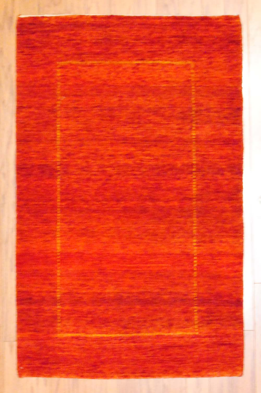 Indo Hand Knotted Fine Gabbeh 2 6 X 4 Herat Oriental Rugs