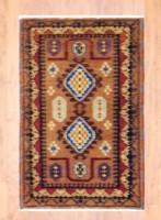 Indo Hand-knotted Kazak (2' x 3') 1