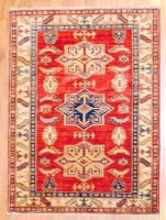 Afghan Hand-knotted Kazak (3'4 x 4'8) 1