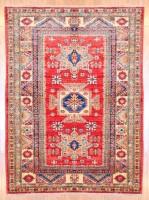 Afghan Hand-knotted Kazak (4'2 x 5'6) 1