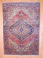 Antique Persian Hand-knotted Heriz (7'6 x 10'6) 1
