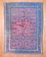 Antique Persian Hand-knotted Mahal (7' x 10') 1