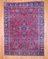 Antique Persian Hand-knotted Sarouk (8'6 x 11'2) 1