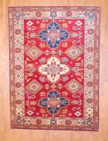 Afghan Hand-knotted Fine Kazak (6'8 x 9'2) 1