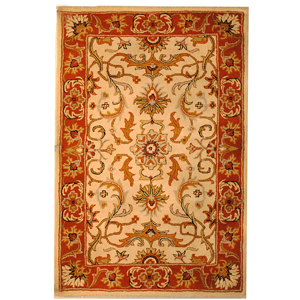 Hand Knotted Persian Wool Area Rug 5 10: Indo Hand-tufted Wool Rug (5' X 8')