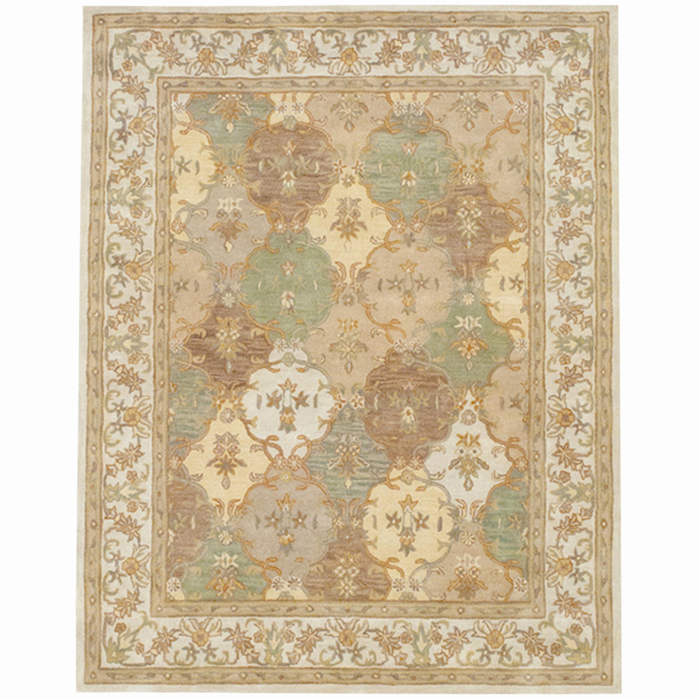 Indo Persian Tabriz Wool Area Rug: Indo Hand-tufted Tabriz Wool Rug (7'3 X 9'3)