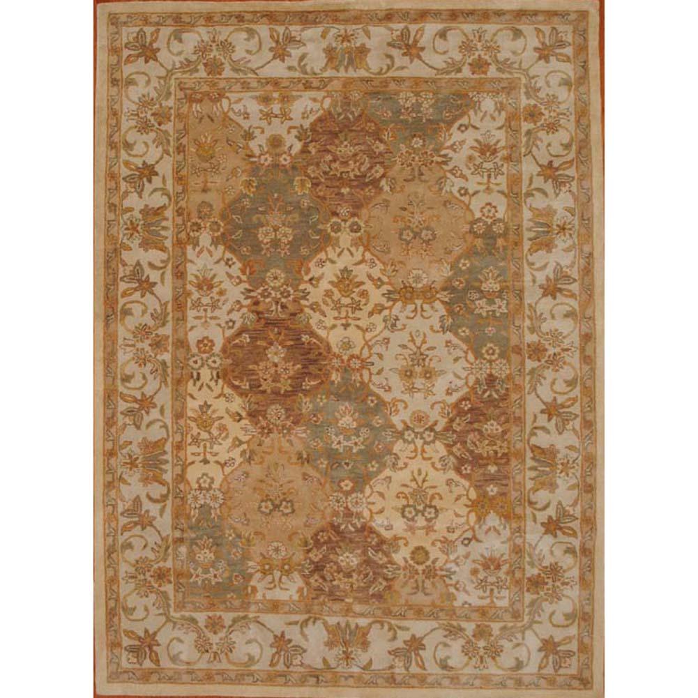 Indo Persian Tabriz Wool Area Rug: Indo Tabriz Wool Rug (8'3 X 11)