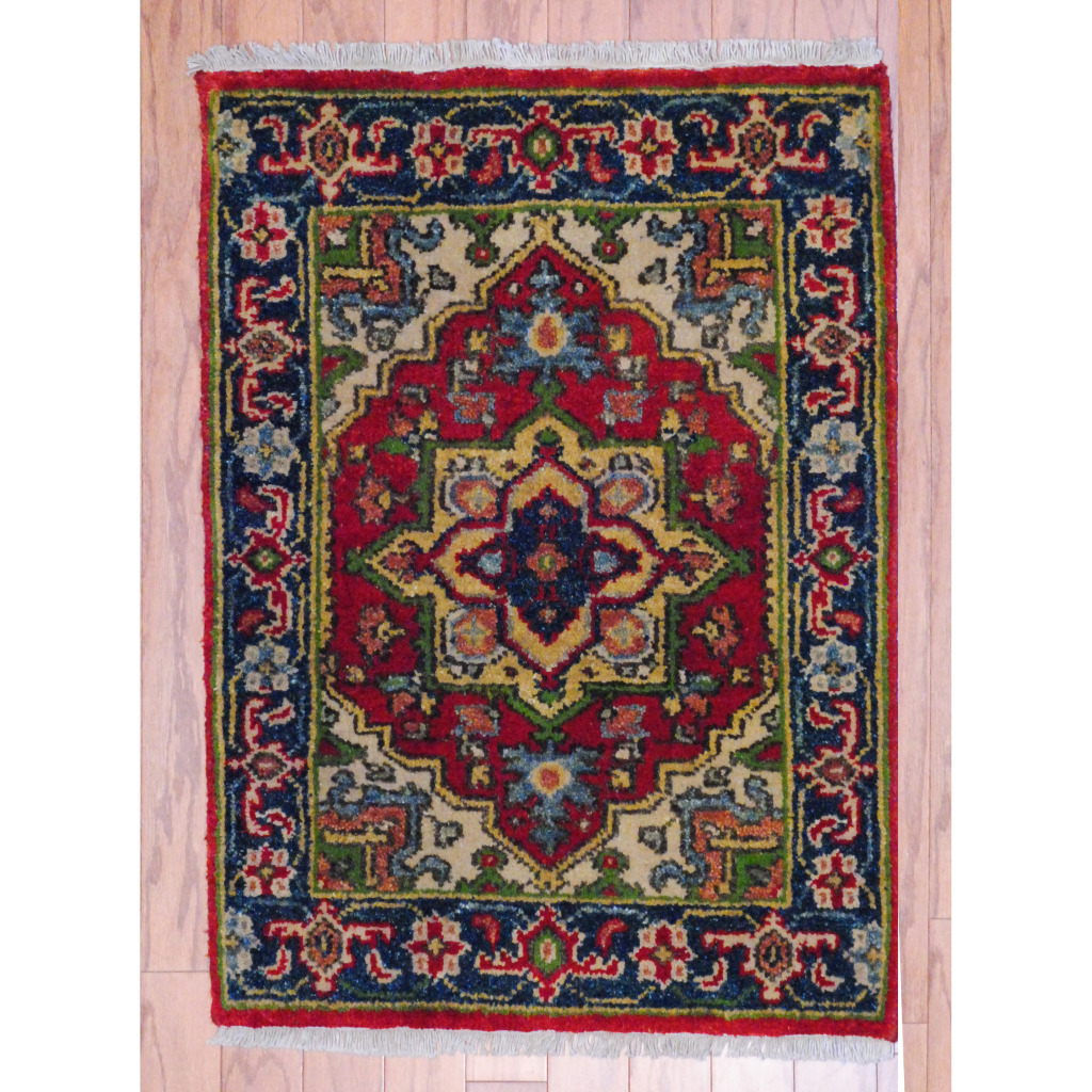Tribal Rug Nz: Indo Hand-knotted Heriz Red Wool Rug (2' X 3')