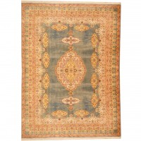 Indo Hand-knotted Kashmir (7'2 x 9'9) 1