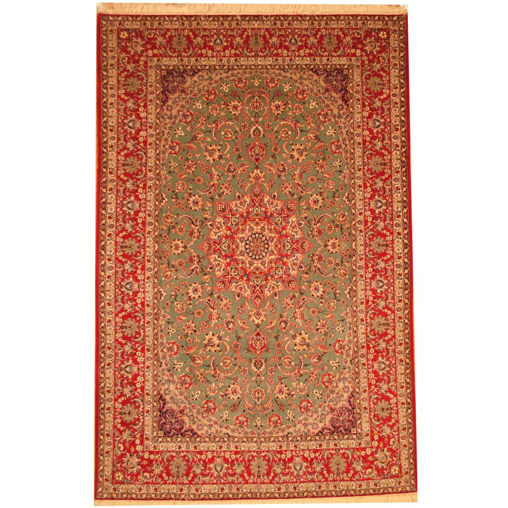 Hand Knotted Persian Isfahan Wool Area Rug: Persian Hand-knotted Fine Isfahan Wool Rug (6'6 X 10'3