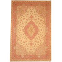 Persian Hand-knotted Fine Tabriz (6'8 x 9'10) 1