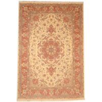 Persian Hand-knotted Fine Tabriz (6'3 x 9'2) 1