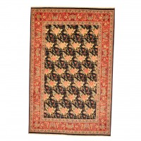Persian Hand-knotted Mashad (6'6 x 9'10) 1
