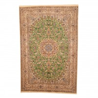 Persian Hand-knotted Nain With Silk (6'4 x 9'7) 1