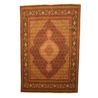 Persian Hand-knotted Tabriz With Silk (6'7 x 9'10) 1
