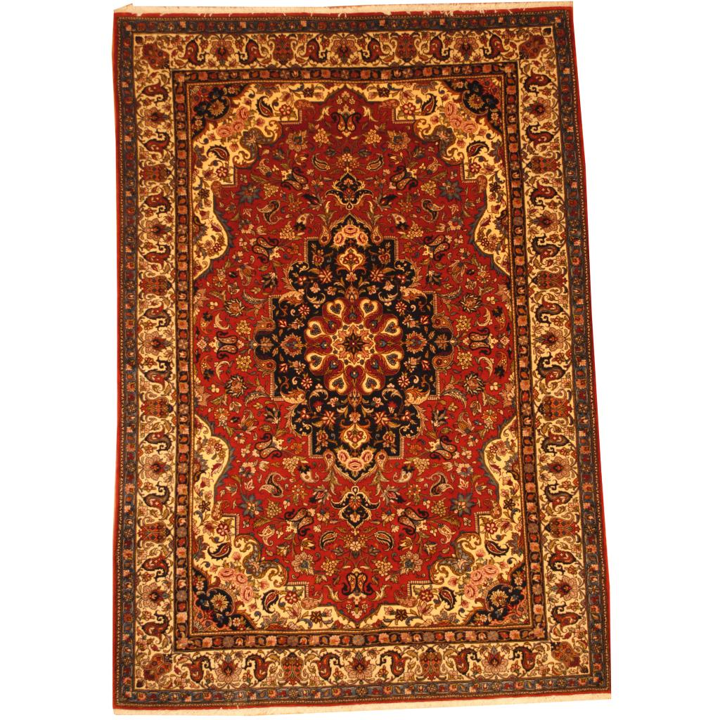 Shop Oriental Persian Gabbeh Shades Of Orange Hand Knotted: Persian Hand-knotted Bakhtiari (6'8 X 9'8)