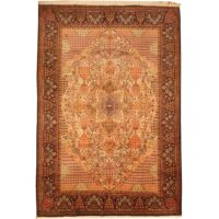 Persian Hand-knotted Tabriz (6'8 x 10') 1