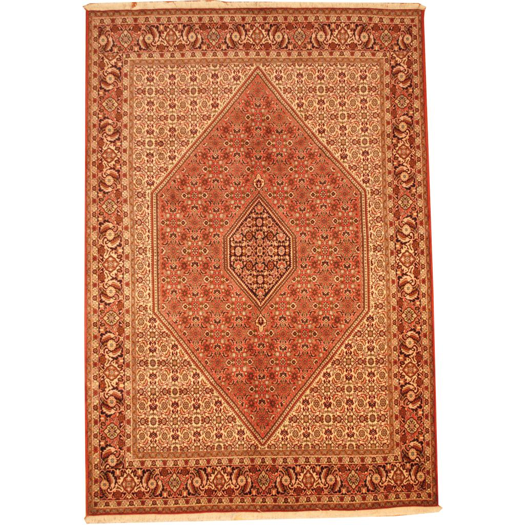 Fine Round Persian Bidjar Area Rug Hand Knotted Wool And