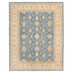 Afghan Hand-knotted Vegetable Dye Oushak Wool Rug (8' x 10'1) 1