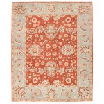 Afghan Hand-knotted Vegetable Dye Oushak Wool Rug (8'1 x 9'11) 1